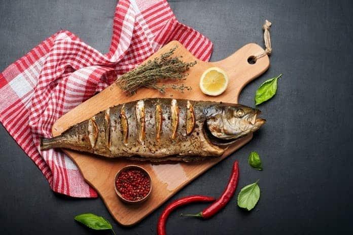 horčík, ryby a mäso