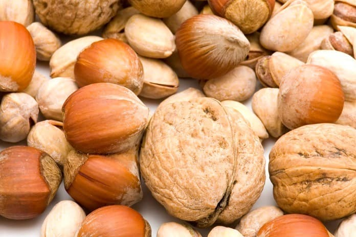 horčík, semená o orechy
