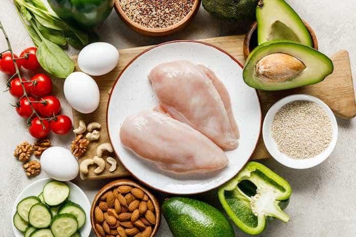 low carb dieta - jedálny lístok